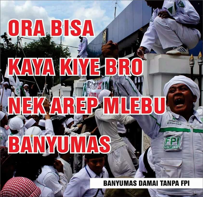 Pro Kontra Deklarasi Fpi Banyumas Purwokerto Kita